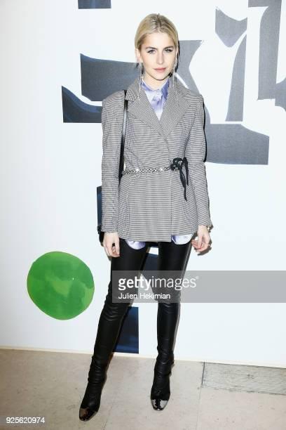 Caroline Daur attends the HM show as part of the Paris Fashion Week Womenswear Fall/Winter 2018/2019 on February 28 2018 in Paris France