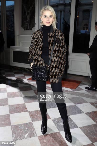 Caroline Daur attends the John Galliano show as part of the Paris Fashion Week Womenswear Fall/Winter 2018/2019 on March 4 2018 in Paris France