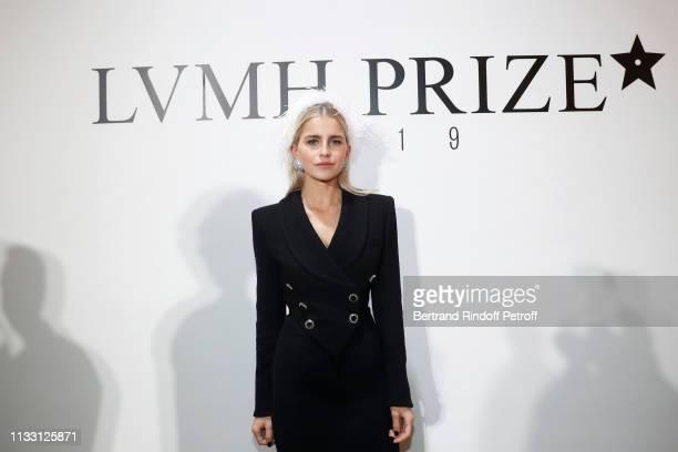 Caroline Daur attends the LVMH Prize 2019 Edition at Louis Vuitton Avenue Montaigne Store on March 01 2019 in Paris France