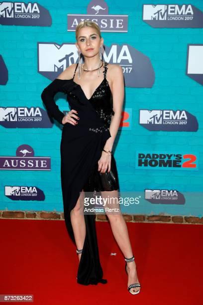 Caroline Daur attends the MTV EMAs 2017 held at The SSE Arena Wembley on November 12 2017 in London England