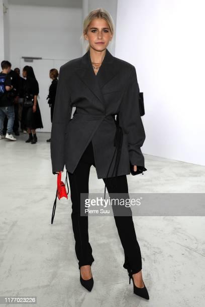 Caroline Daur attends the Mugler Womenswear Spring/Summer 2020 show as part of Paris Fashion Week on September 25, 2019 in Paris, France.