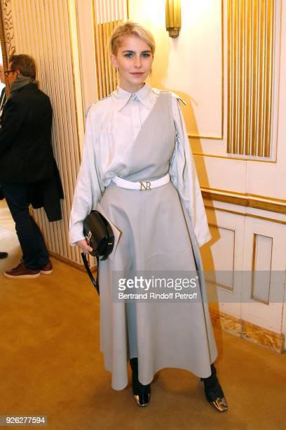 Caroline Daur attends the Nina Ricci show as part of the Paris Fashion Week Womenswear Fall/Winter 2018/2019 on March 2 2018 in Paris France