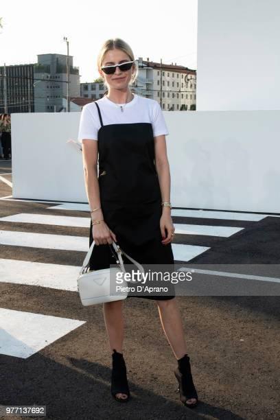 Caroline Daur attends the Palm Angels show during Milan Men's Fashion Week Spring/Summer 2019 on June 17 2018 in Milan Italy