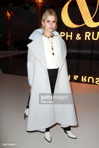 Caroline Daur attends the Ralph Russo Haute Couture Spring Summer 2019 show as part of Paris Fashion Week on January 21 2019 in Paris France