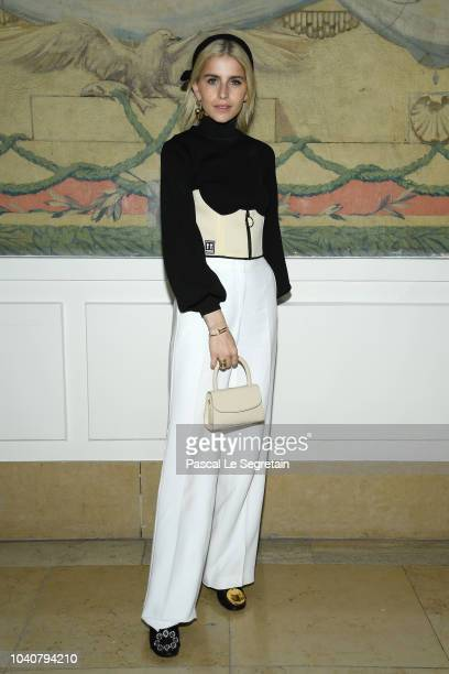 Caroline Daur attends the Rochas show as part of the Paris Fashion Week Womenswear Spring/Summer 2019 on September 26 2018 in Paris France