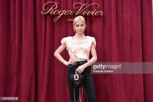 Caroline Daur attends the Roger Vivier Presentation Spring/Summer 2019 during Paris Fashion Week on September 27 2018 in Paris France