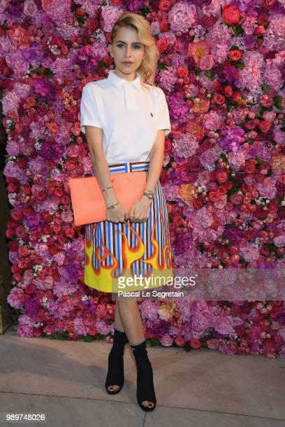 Caroline Daur attends the Schiaparelli Haute Couture Fall Winter 2018/2019 show as part of Paris Fashion Week on July 2 2018 in Paris France