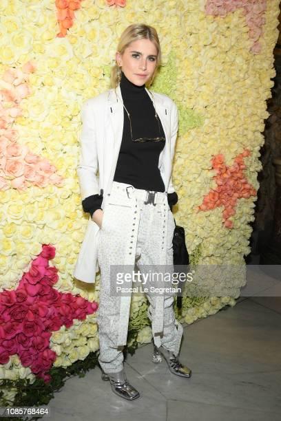Caroline Daur attends the Schiaparelli Haute Couture Spring Summer 2019 show as part of Paris Fashion Week on January 21, 2019 in Paris, France.