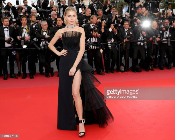 Caroline Daur attends the screening of BlacKkKlansman during the 71st annual Cannes Film Festival at Palais des Festivals on May 14 2018 in Cannes...