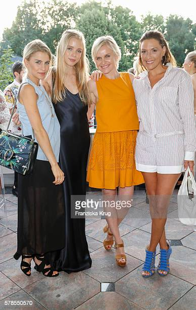 Caroline Daur Charly Sturm Barbara Sturm and Simone Ballack attend the 'Dr Barbara Sturm NetAPorter' Dinner Party on July 21 2016 in Munich Germany