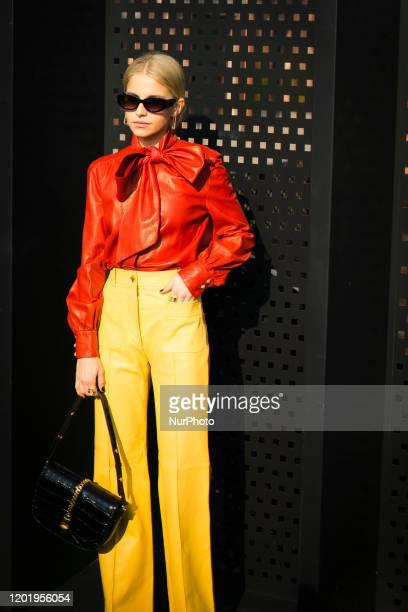 Caroline Daur during the during Milan Fashion Week Fall/Winter 20202021 on February 19 2020 in Milan Italy