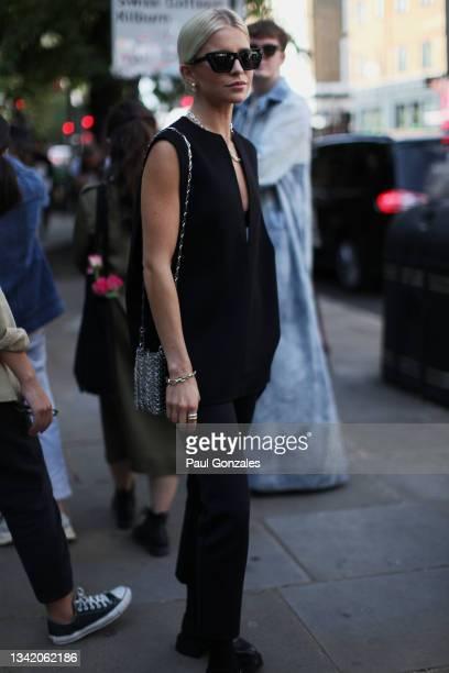 Caroline Daur is seen at COS during London Fashion Week September 2021 on September 21, 2021 in London, England.