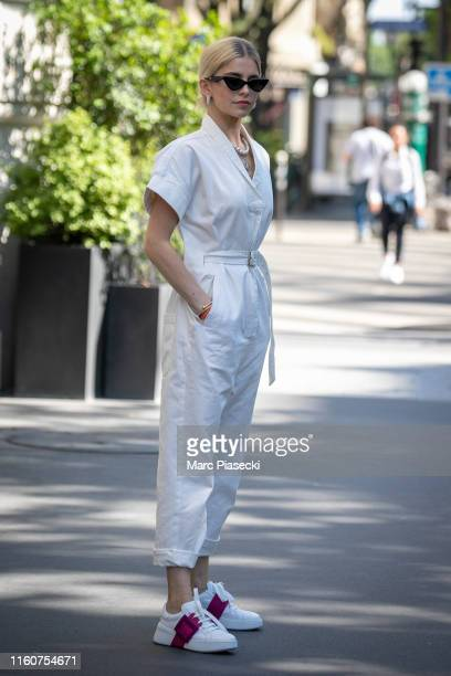 Caroline Daur is seen at Hotel Lutetia on July 03, 2019 in Paris, France.