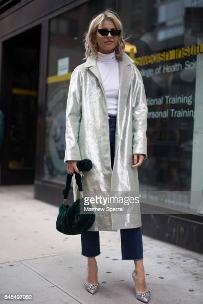 Caroline Daur is seen attending Sies Marjan during New York Fashion Week wearing Sies Marjan on September 10 2017 in New York City