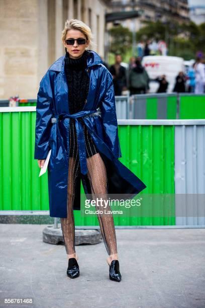 Caroline Daur is seen before the Giambattista Valli show during Paris Fashion Week Womenswear SS18 on October 2 2017 in Paris France
