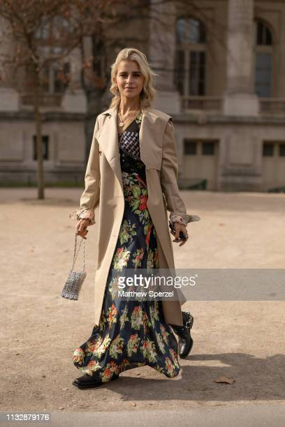 Caroline Daur is seen on the street attending Paco Rabanne during Paris Fashion Week AW19 wearing Paco Rabanne on February 28, 2019 in Paris, France.