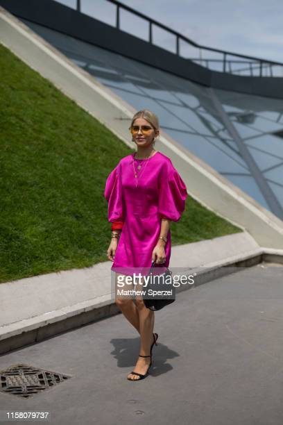 Caroline Daur is seen on the street during Paris Mens Fashion Week on June 23 2019 in Paris France