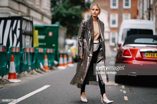 Caroline Daur is seen outside Preen by Thornton Bregazzi during London Fashion Week September 2017 on September 17 2017 in London England