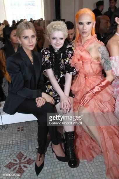 Caroline Daur Lachlan Watson and Miss Fame attend the Giambattista Valli show as part of the Paris Fashion Week Womenswear Fall/Winter 2020/2021 on...