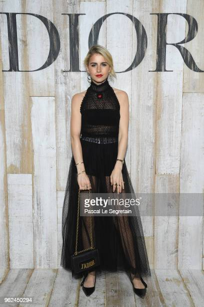Caroline Daur poses at a photocall during Christian Dior Couture S/S19 Cruise Collection on May 25 2018 in Chantilly France