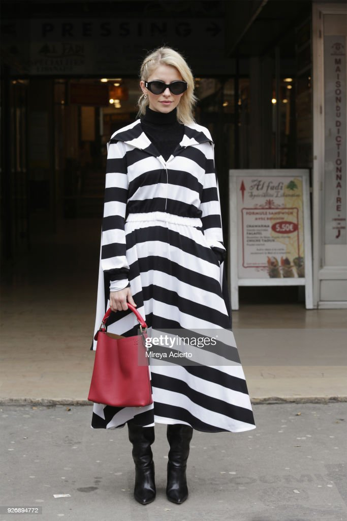 Caroline Daur seen during Paris Fashion Week Womenswear Fall/Winter 2018/2019 on March 3, 2018 in Paris, France.