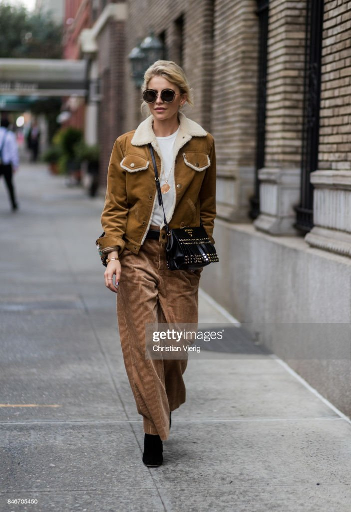 Caroline Daur seen in the streets of Manhattan outside Marc Jacobs during New York Fashion Week on September 13, 2017 in New York City.