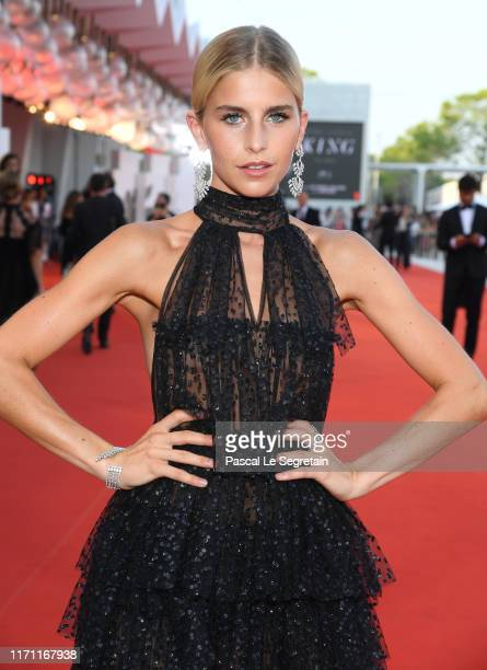 Caroline Daur walks the red carpet ahead of the J'Accuse screening during the 76th Venice Film Festival at Sala Grande on August 30 2019 in Venice...