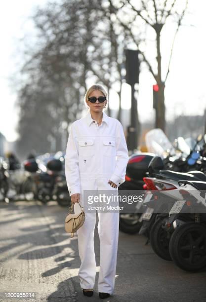 Caroline Daur wearing a complete Dior look on January 20 2020 in Paris France