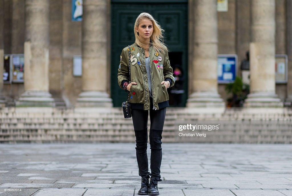 698255e3 Street Style -Paris Fashion Week : Day Nine Womenswear Fall Winter  2016/2017 :