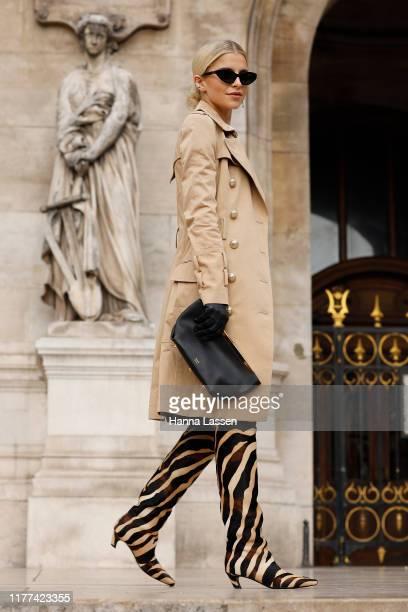Caroline Daur wearing Balmain outside Balmain during Paris Fashion Week Womenswear Spring Summer 2020 on September 27 2019 in Paris France