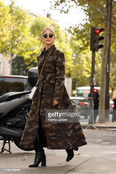 Caroline Daur wearing Miu Miu outside Miu Miu during Paris Fashion Week Womenswear Spring Summer 2020 on October 01, 2019 in Paris, France.