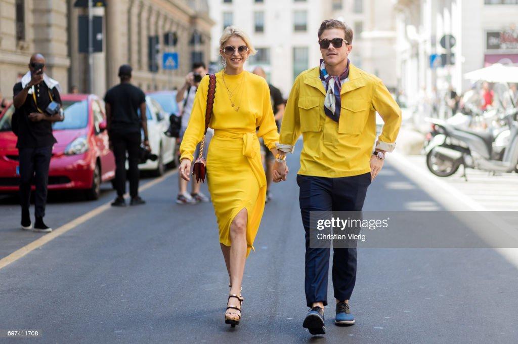 Street Style: June 18 - Milan Men's Fashion Week Spring/Summer 2018 : Photo d'actualité