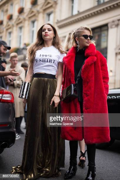 Caroline Daur XENIA TCHOUMI are seen attending Undercover during Paris Fashion Week on September 29 2017 in Paris France
