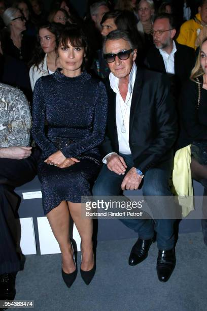 Caroline de Maigret and Eric Pfrunder attend the Chanel Cruise 2018/2019 Collection Front Row at Le Grand Palais on May 3 2018 in Paris France