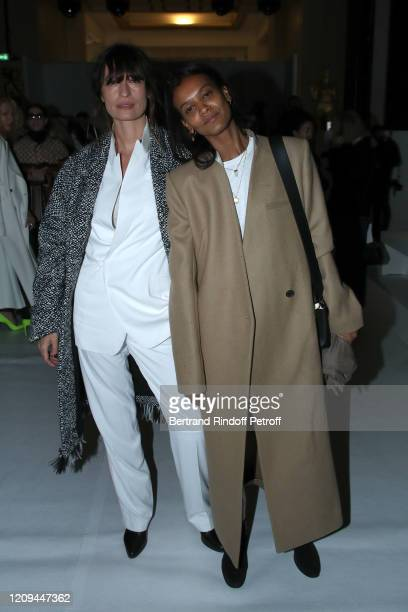 Caroline de Maigret and Liya Kebede attend the Haider Ackermann show as part of the Paris Fashion Week Womenswear Fall/Winter 2020/2021 on February...