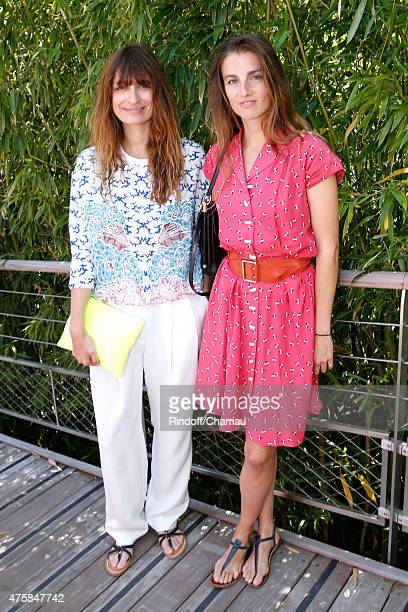 Caroline de Maigret and Photographer Sonia Sieff attend the 2015 Roland Garros French Tennis Open - Day Twelve, on June 4, 2015 in Paris, France.