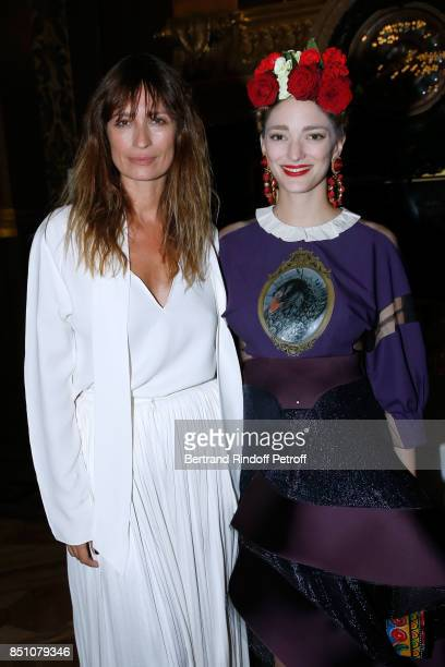 Caroline de Maigret and Sofia Sanchez de Betak attend the Opening Season Gala Ballet of Opera National de Paris Held at Opera Garnier on September 21...