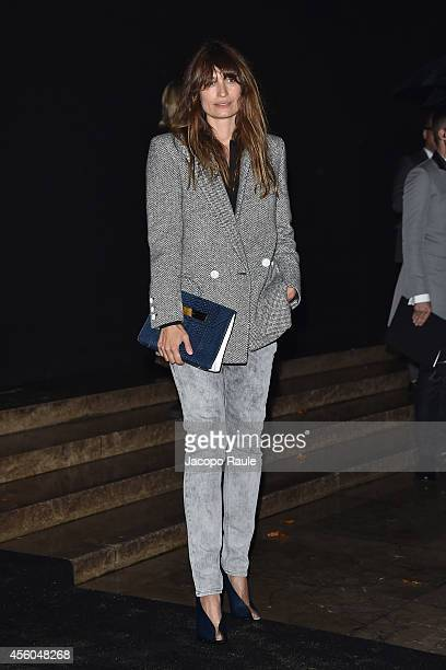 Caroline De Maigret arrives at Balenciaga Show during Paris Fashion Week Womenswear SS 2015 on September 24 2014 in Paris France