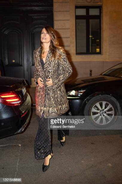 Caroline de Maigret arrives at Sidaction Gala Dinner 2020 At Pavillon Cambon on January 23 2020 in Paris France