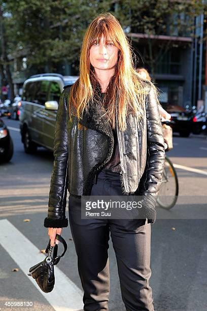 Caroline De Maigret attends the Anthony Vaccarello show as part of the Paris Fashion Week Womenswear Spring/Summer 2015 at Cite de la Mode et du...