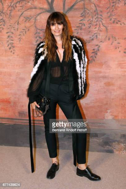 Caroline de Maigret attends the Chanel Cruise 2017/2018 Collection Show Photocall Held at Grand Palais on May 3 2017 in Paris France