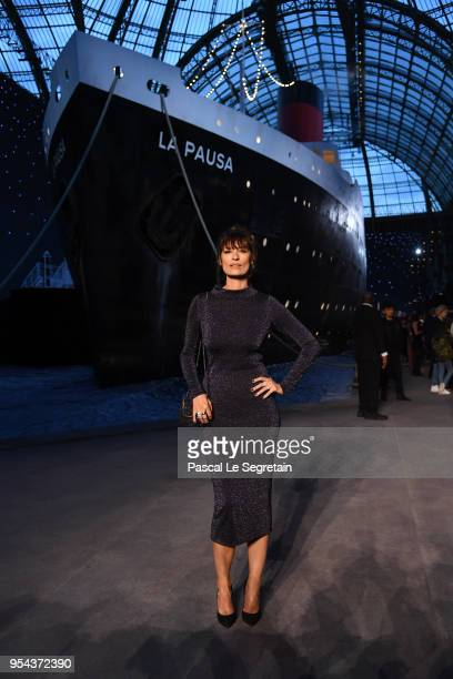 Caroline de Maigret attends the Chanel Cruise 2018/2019 Collection at Le Grand Palais on May 3 2018 in Paris France