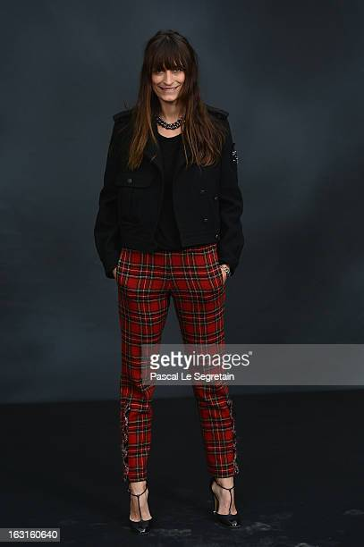Caroline de Maigret attends the Chanel Fall/Winter 2013 ReadytoWear show as part of Paris Fashion Week at Grand Palais on March 5 2013 in Paris France