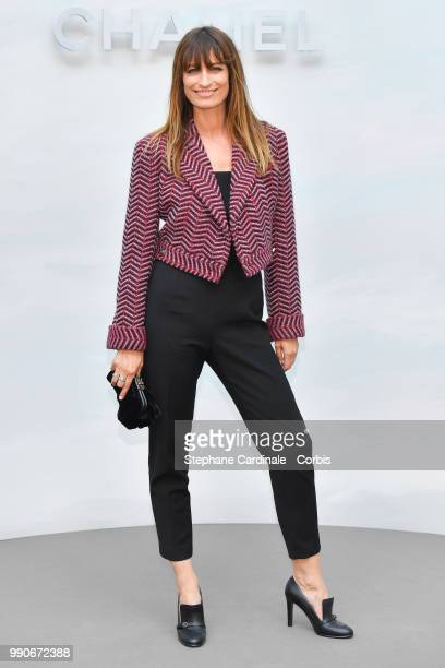 Caroline De Maigret attends the Chanel Haute Couture Fall/Winter 20182019 show as part of Haute Couture Paris Fashion Week on July 3 2018 in Paris...