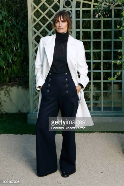 Caroline de Maigret attends the Chanel Haute Couture Spring Summer 2018 show as part of Paris Fashion Week on January 23 2018 in Paris France