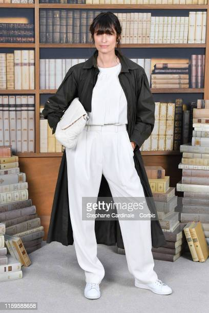 Caroline de Maigret attends the Chanel photocall as part of Paris Fashion Week Haute Couture Fall Winter 2020 at Grand Palais on July 02 2019 in...