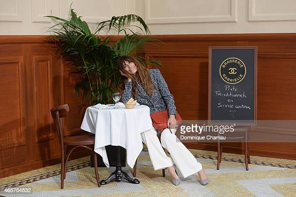 Caroline de Maigret attends the Chanel show as part of the Paris Fashion Week Womenswear Fall/Winter 2015/2016 on March 10 2015 in Paris France