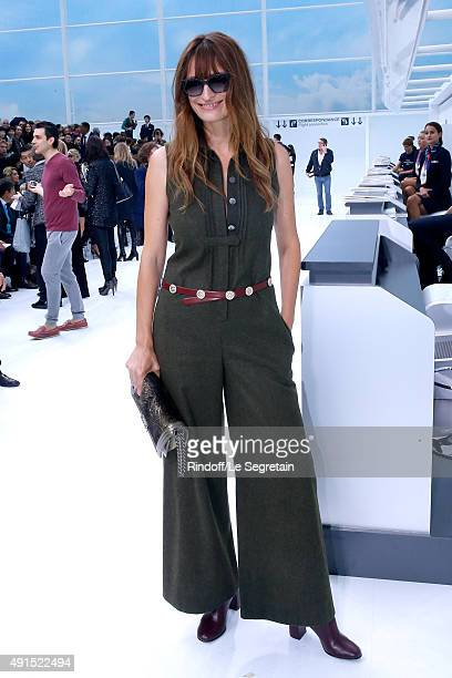 Caroline de Maigret attends the Chanel show as part of the Paris Fashion Week Womenswear Spring/Summer 2016 Held at Grand Palais on October 6 2015 in...