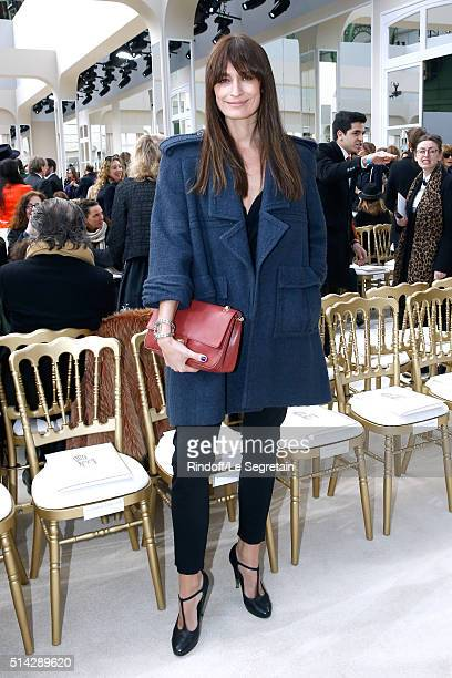 Caroline de Maigret attends the Chanel show as part of the Paris Fashion Week Womenswear Fall/Winter 2016/2017 on March 8 2016 in Paris France