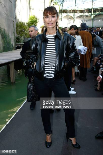 Caroline de Maigret attends the Chanel show as part of the Paris Fashion Week Womenswear Spring/Summer 2018 on October 3 2017 in Paris France